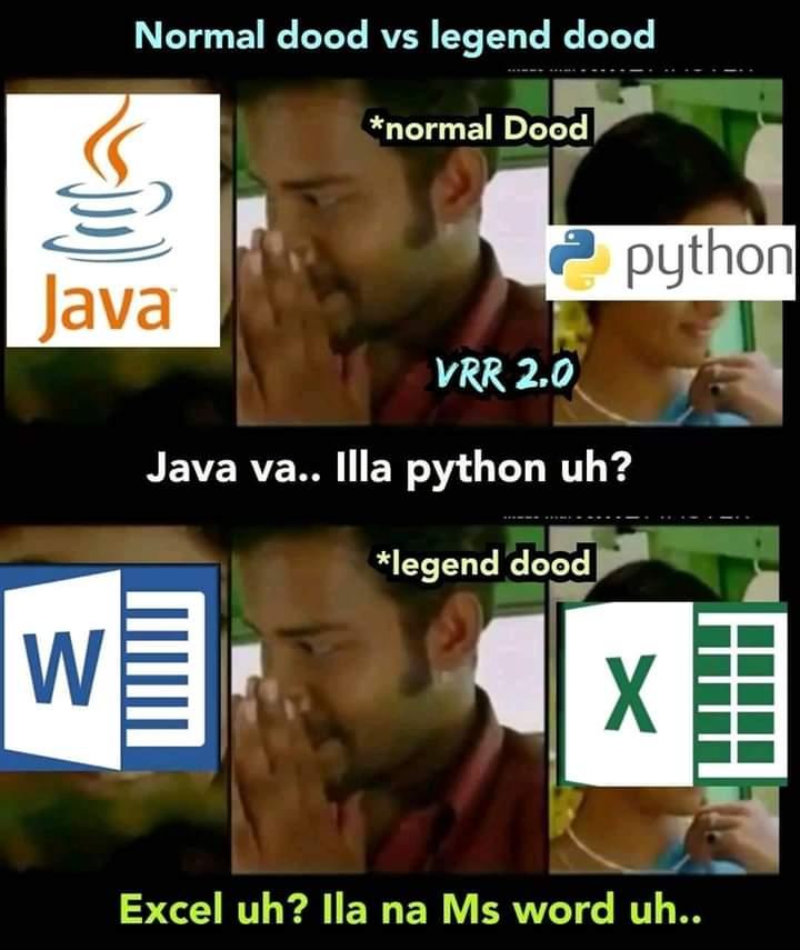 In Office Microsoft Excel Is Not Responding Meme Tamil Memes