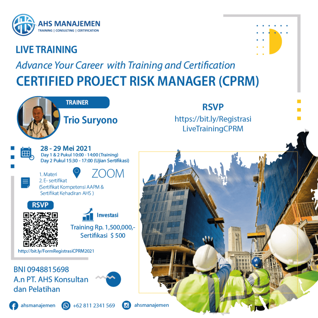 Certified Project Risk Manager-CPRM (28-29 Mei 2021)