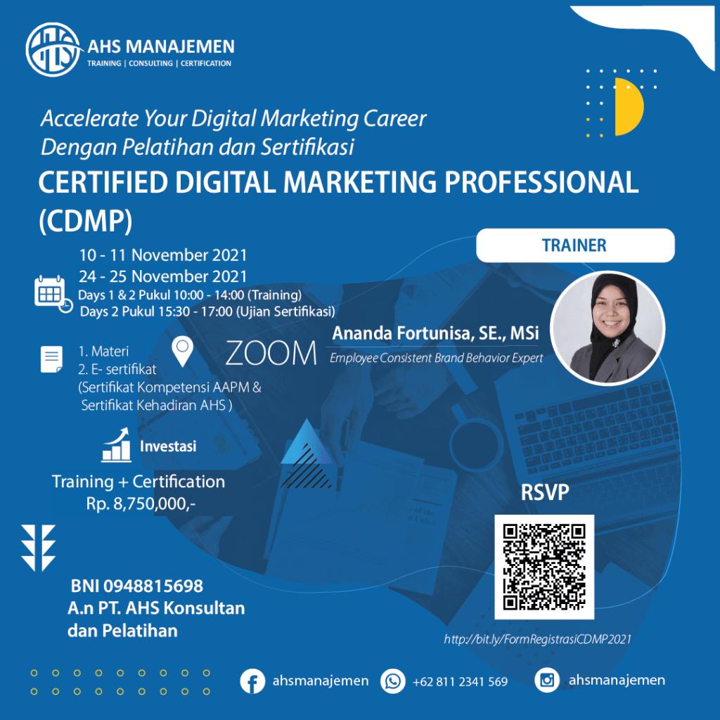 Certified Digital Marketing Profesional (CDMP)