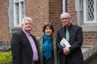Eoin Devereux, UL, Sarah Moore and Joseph O Connor, UL attending the launch of the The UL/Frank McCourt Summer School in Creative Writing at the Frank McCourt Museum, Limerick. The UL/Frank McCourt Summer School in Creative Writing will take place in New York from July 7th -10th inclusive. The Summer School will be led by the renowned novelist and Frank McCourt Chair of Creative Writing Professor Joseph OÕConnor. The UL Frank McCourt Summer School is open to applications from those based in the USA and to those willing to travel from Ireland. Picture: Oisin McHugh/FusionShooters