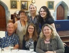 Dr Tina O'Toole, with former UL colleagues Drs Susan Cahill (Concordia U) and Caroline Magennis (Salford U).