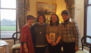 Tina O'Toole (UL), Gillian McIntosh (Queen's Belfast) and Muireann O'Cinnéide (NUIG) with Patricia Coughlan (UCC).
