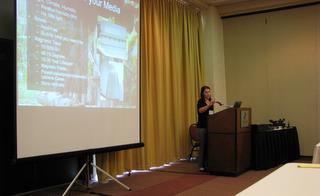 Elizabeth Lowman presenting at TALM 2009