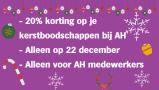 Extra personeelskorting op 22 december