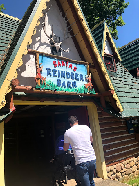 North Pole Reindeer Barn, the home of Santa's reindeer - you won't see this on a Disney vacation!