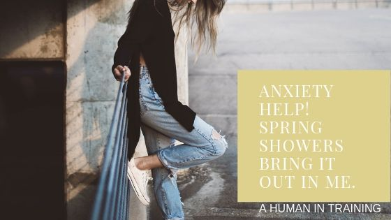 a woman on an outside bridge looking for anxiety help