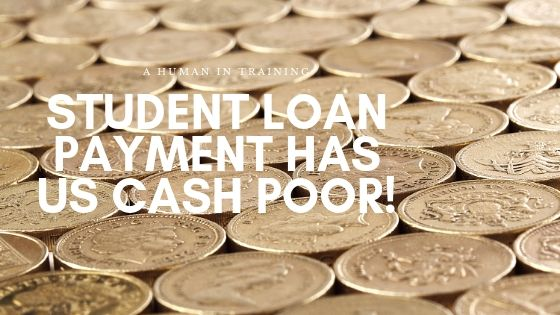 many different coins used for student loan payment