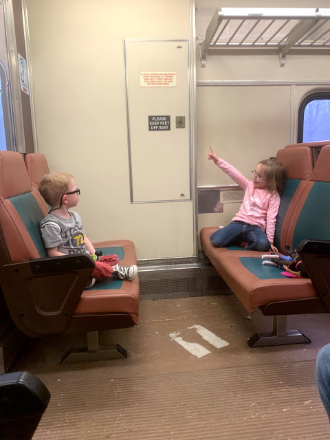Children on the South Shore Train - NICTD during The Best Of Chicago With Mini Humans