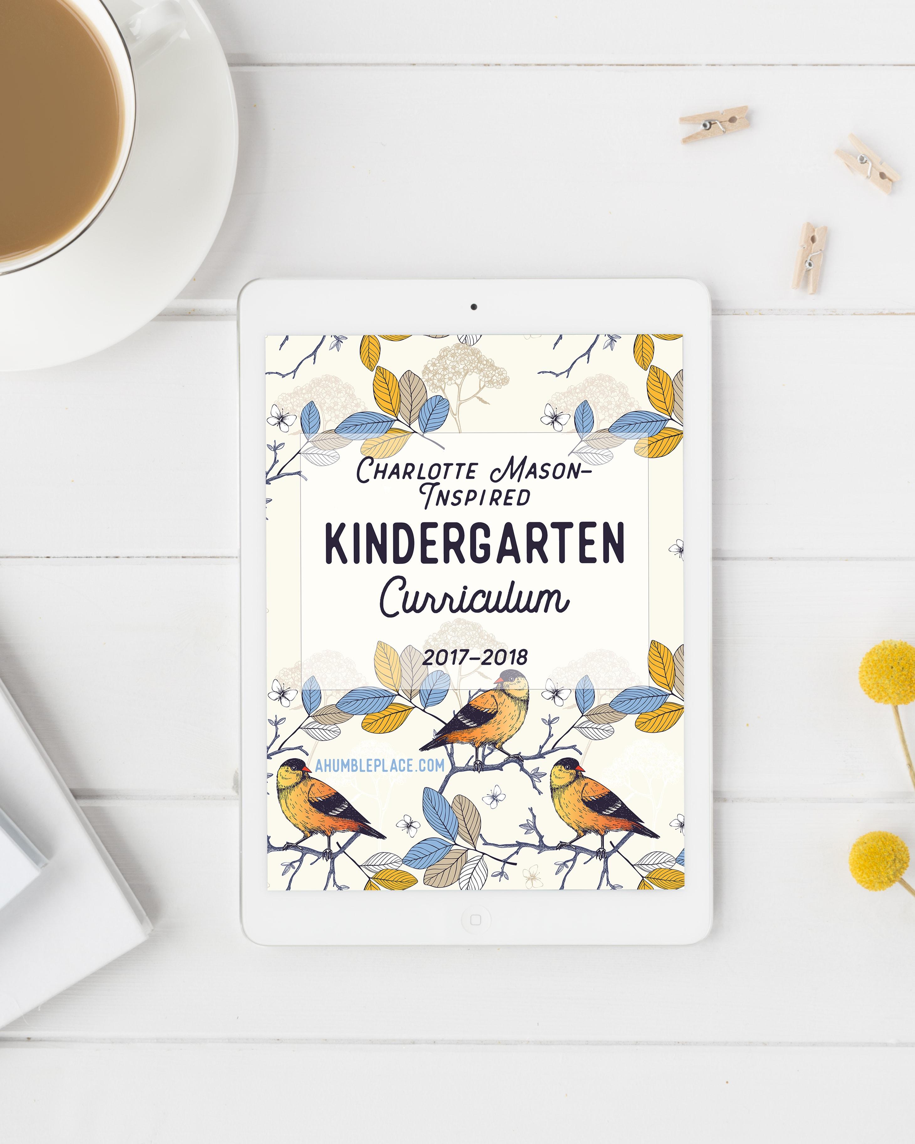 Charlotte Mason Inspired Kindergarten Curriculum Version A Humble Place