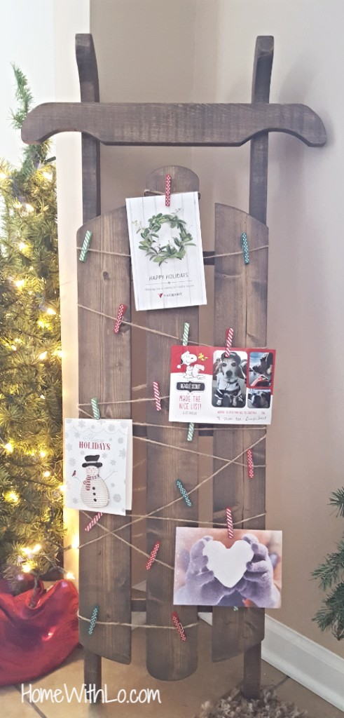 4 vintage window christmas card display from the lily pad cottage