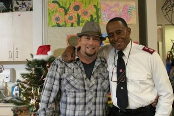 Director Harold Cronk and actor Antonio Fargas as Major Melvin Lowell