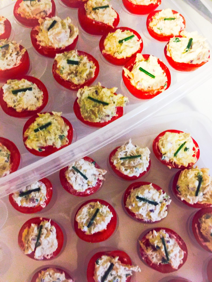 Tomato Cups with Chicken Salad