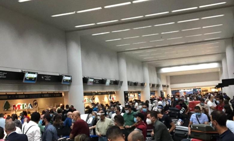 مطار رفيق الحريري اليوم