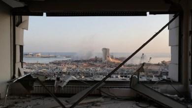 ميناء بيروت المدمر