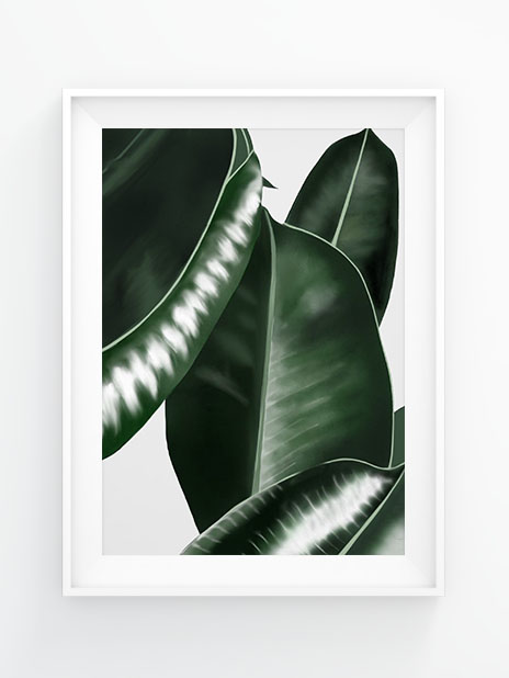 Green leaves Illustration by Nicole Scholtysik - gefunden bei AHWH.CH