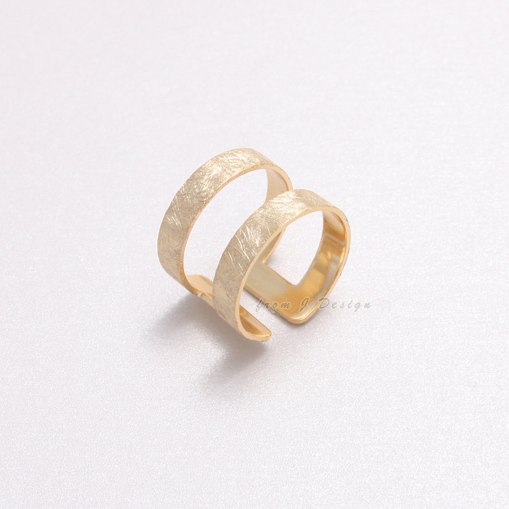 double ring JDesign etsy