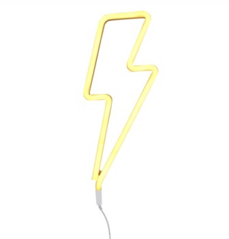 Neon-Licht-Blitz-gelb