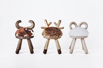 Animal chairs by Takeshi Sawada