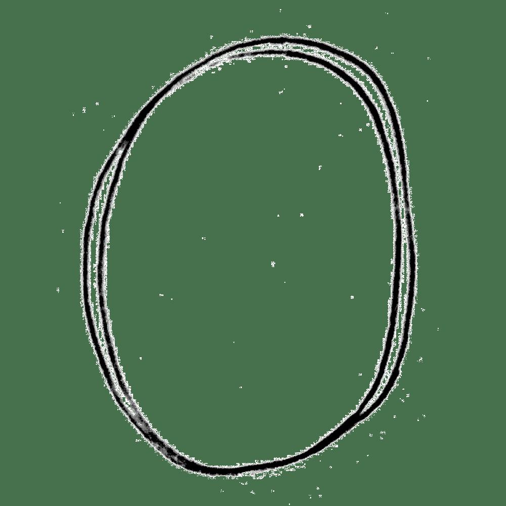 鉛筆の二重丸の手書き吹き出しのフリーイラスト画像素材商用無料