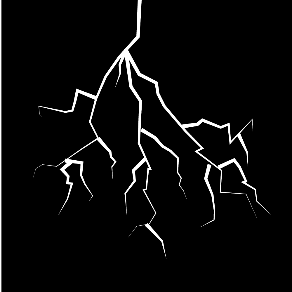 雷衝撃ショックの模様パターンのフリーイラスト画像素材商用無料