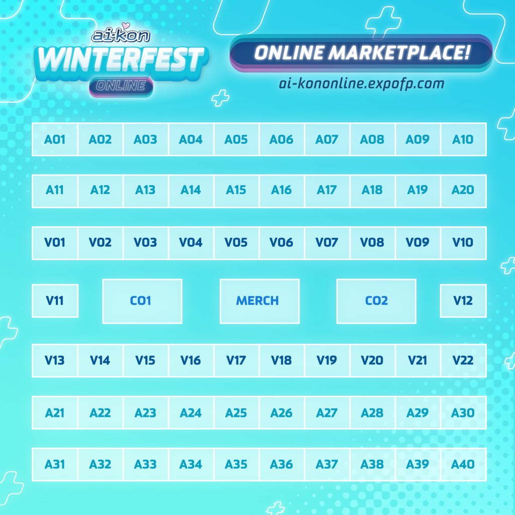 Winterfest Online Marketplace Map Graphic