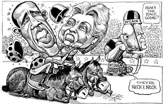 US presidential Elections cartoon