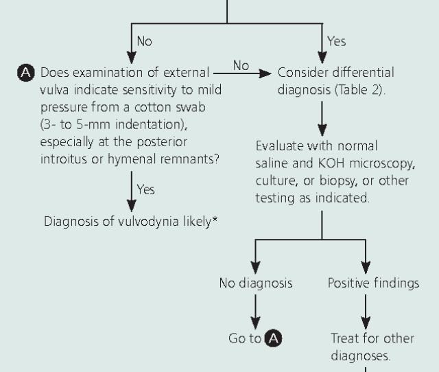 Figure 1 Algorithm For The Diagnosis Of Vulvar Pain And Dyspareunia Koh