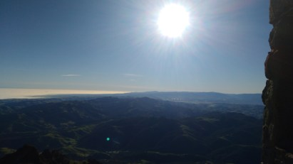 The view from the observation tower on the summit of Mount Diablo