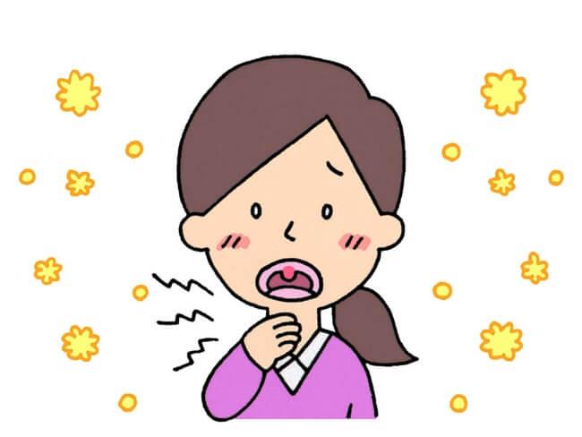 花粉症 症状 のど