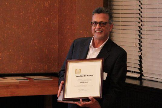 President's Award Recipient, Kazim Dharsi