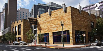 Whitaker Center, Harrisburg, Pennsylvania Architect of Record: Murphy & Dittenhafer Architects Design Architects: Hardy Holzman Pfeiffer Associates Photography (labeled M&D): Courtesy of HHPA