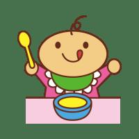 赤ちゃんの食事イラスト