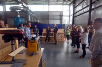 Michael Bachman, ABC Keystone's Director of Membership, gives attendees a tour of ABC Keystone's facilities