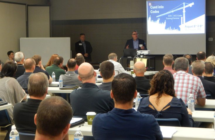 AIA PA President Scott J. Compton and Executive Director, Stephen Swarney, welcomes attendees to the first day of the Codes Training Seminar