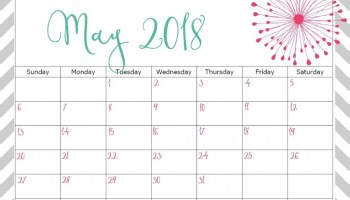 calendar for may 2018 printable monthly template