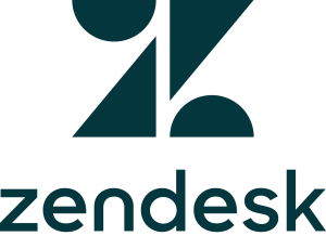 Zendesk logo - the image features the company's Z logo and its name below.