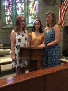 Livia Chase, Becca Whealdon, Emma Whealdon served as readers and cantors.
