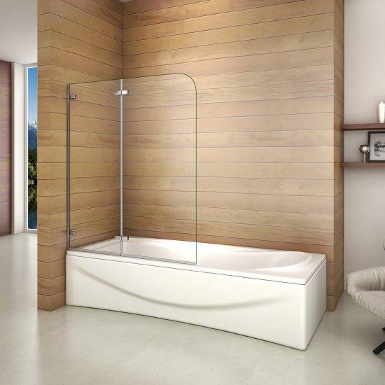aica 1000x1400x5mm pare baignoire pivotant et repliable 180 5mm verre de securit largeur reglable aica grand choix au petit prix paroi de