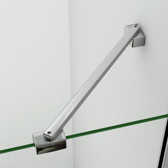 aica barre de stabilisation 45cm pour paroi de douche barre de fixation la pince360