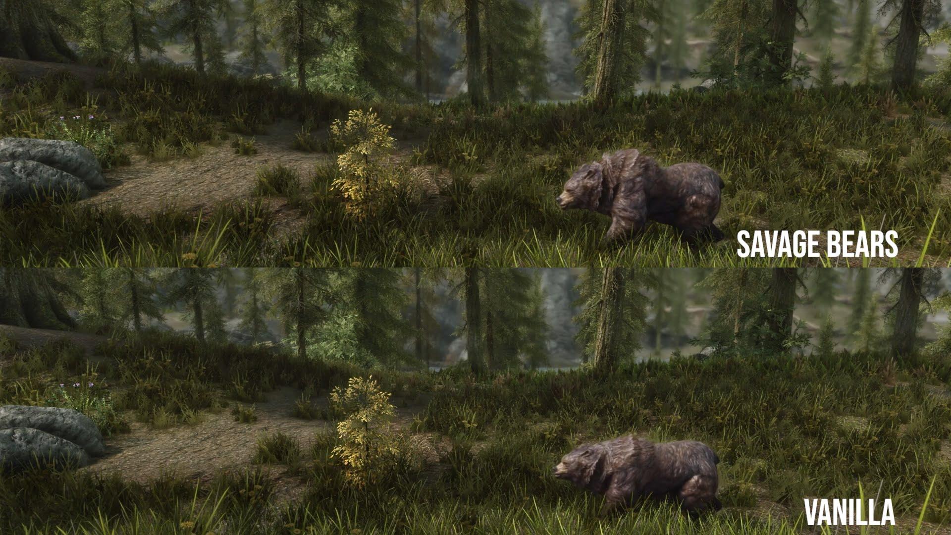 Immersive Smilodons & Savage Bears | Skyrim & Special Edition