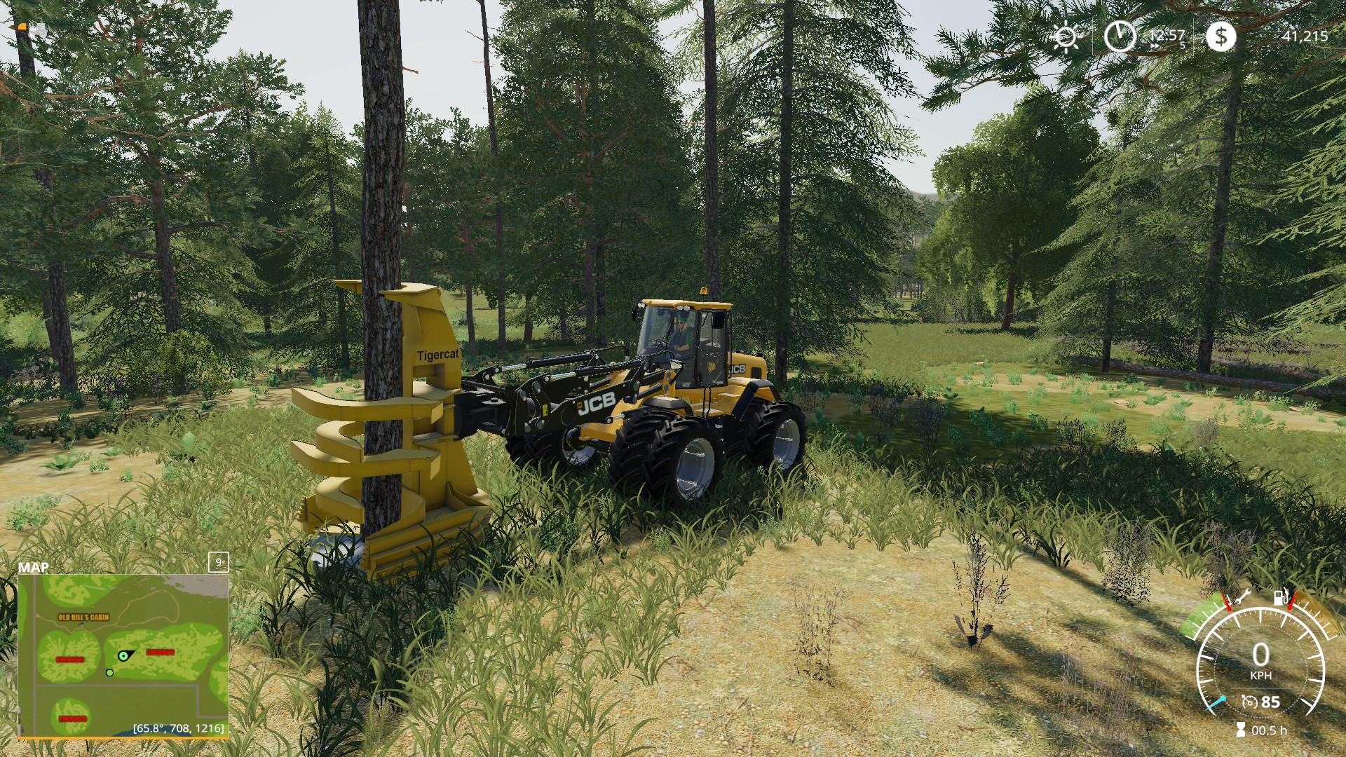 Farming Simulator 19 WHEEL LOADER FELLER BUNCHER - Ai Cave