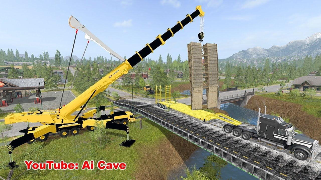 Farming Simulator 17 - BRIDGE CONSTRUCTION - Ai Cave