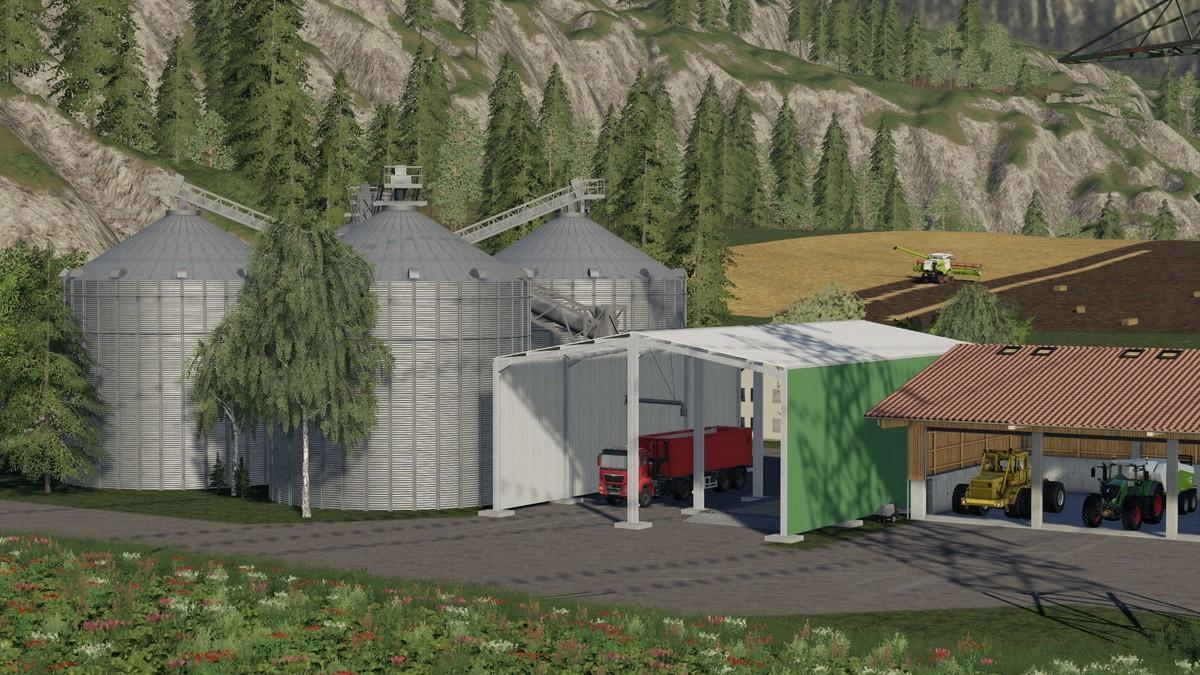 LARGE SILO SYSTEM - Ai Cave - Farming Simulator 2019 Mods
