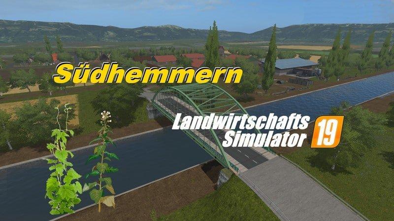 Südhemmern Map - Farming Simulator 19 - Ai Cave Video Game Mods