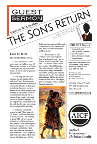 8.24.2014 - Luke 15:11-24 - The Son's Return (Missionary Peter Seo)
