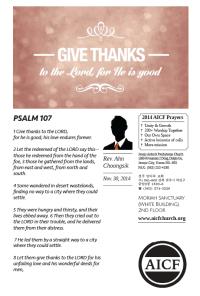11.30.2014 - Psalm 107:1-8 - Give Thanks to God (Rev. Ahn Choongsik)
