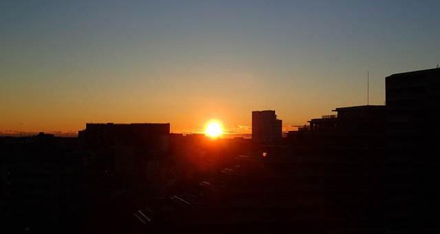 夜明けが撮れる季節