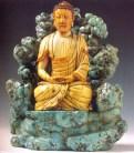 China - Buda em pedra turquesa - Dinastia Ming - séc XVI