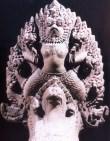 Camboja - As 5 cabeças de Naga - Periodo Angkor