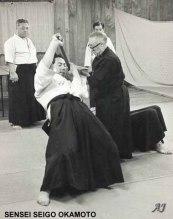 amigo de morihei horikawa sensei uke sensei seigo okamoto 1970